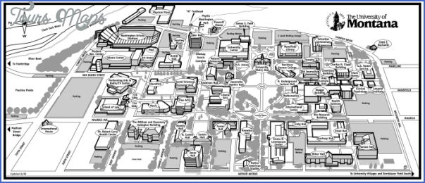 map of montana state university map travel holiday vacations