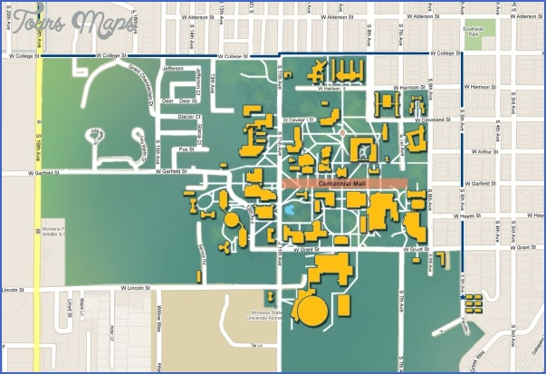 MAP OF MONTANA STATE UNIVERSITY  Map  Travel  Holiday