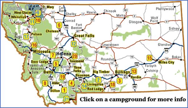 MAP OF MONTANA VIRGINIA CITY Map Travel Holiday Vacations - Map of montana with cities