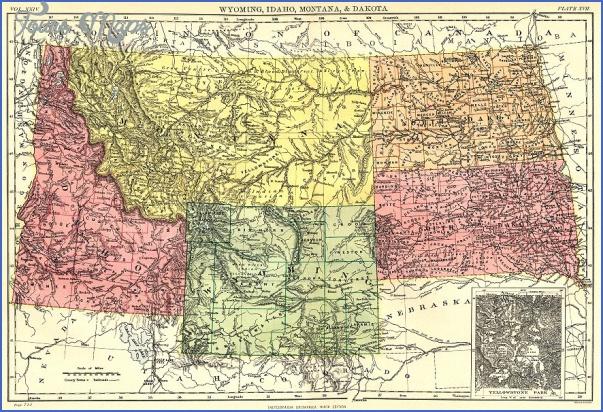 map of montana wyoming idaho 0 MAP OF MONTANA WYOMING IDAHO