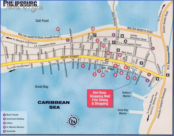 Map Of Philipsburg  Map  Travel  Holiday  Vacations