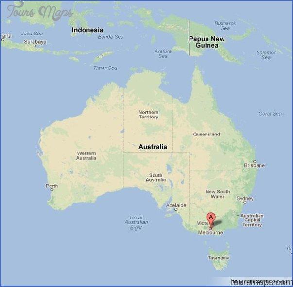 melbourne on map of australia Melbourne Map