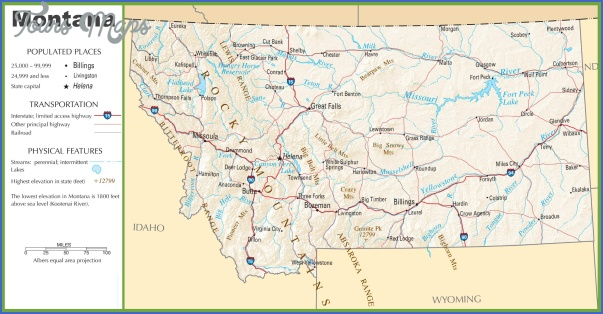 montana map usa 5 MONTANA MAP USA