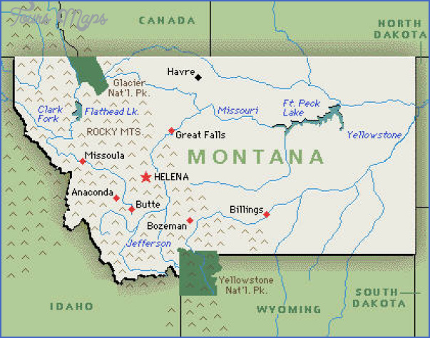 montana map13 MONTANA MAP WITH CITIES AND TOWNS