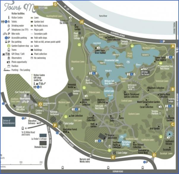 rbgv melbourne brochure map  large Melbourne Map