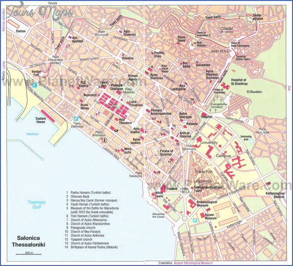 salonica map Greece Map For Tourists