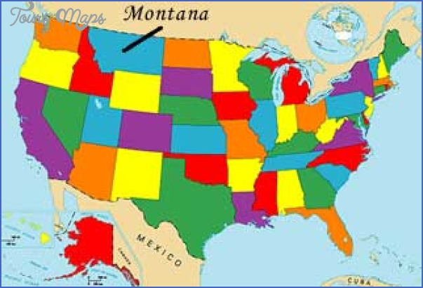 state map of montana usa 3 STATE MAP OF MONTANA USA