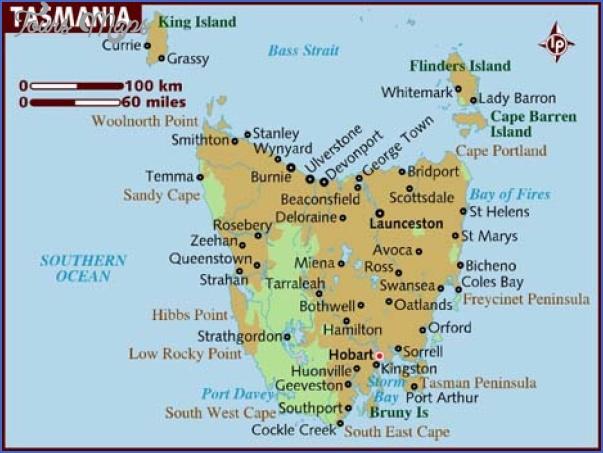 tasmania map 0 Tasmania Map