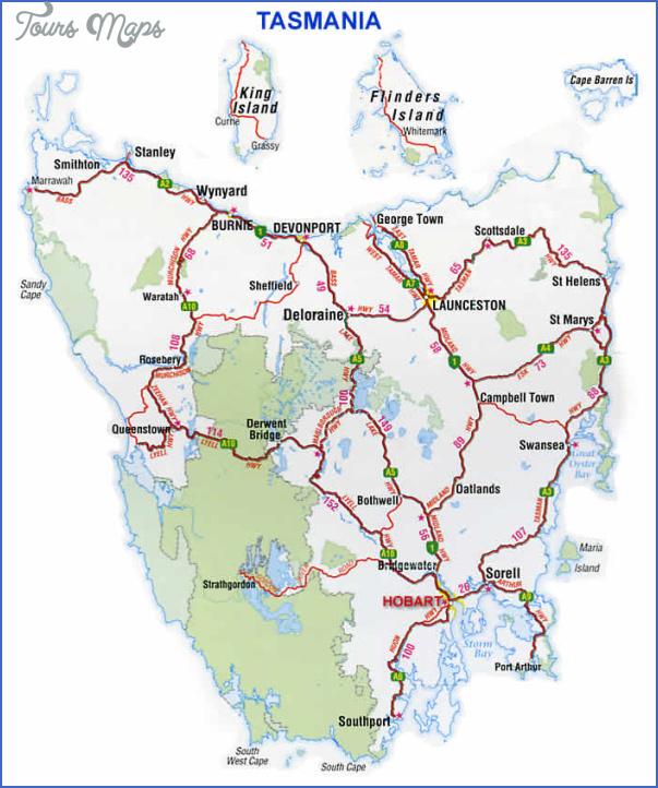 tasmania map 3 Tasmania Map