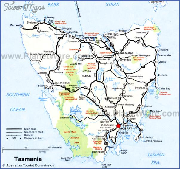 tasmania map 5 Tasmania Map