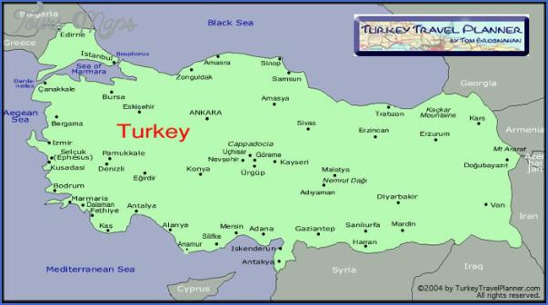 turkey map for tourists 15 Turkey Map For Tourists