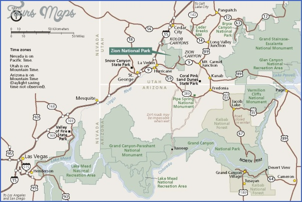 zion national park map tourist attractions 2 Zion National Park Map Tourist Attractions