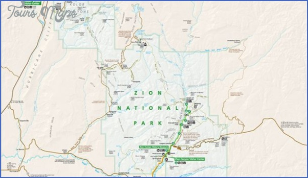 zion national park map tourist attractions 5 Zion National Park Map Tourist Attractions