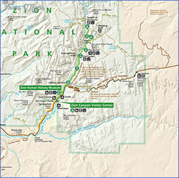 zion national park map tourist attractions 6 Zion National Park Map Tourist Attractions