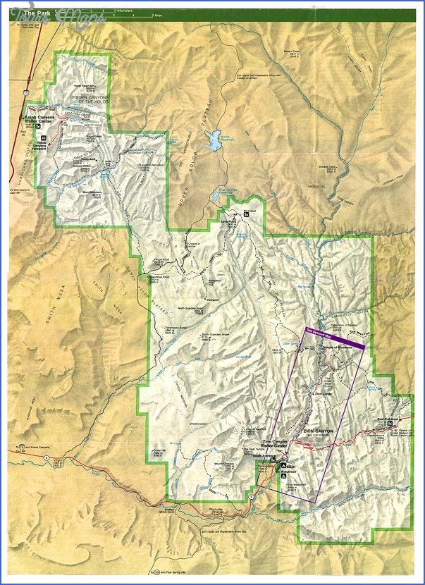zion national park map tourist attractions 7 Zion National Park Map Tourist Attractions