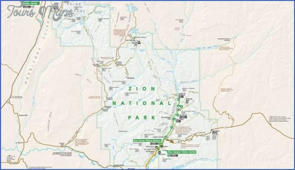zion national park map 8 Zion National Park Map