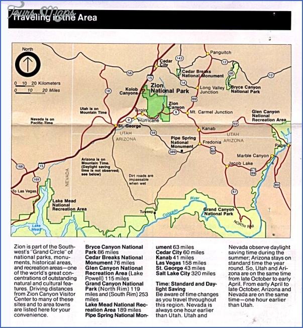zion national park us map 18 ZION NATIONAL PARK US MAP