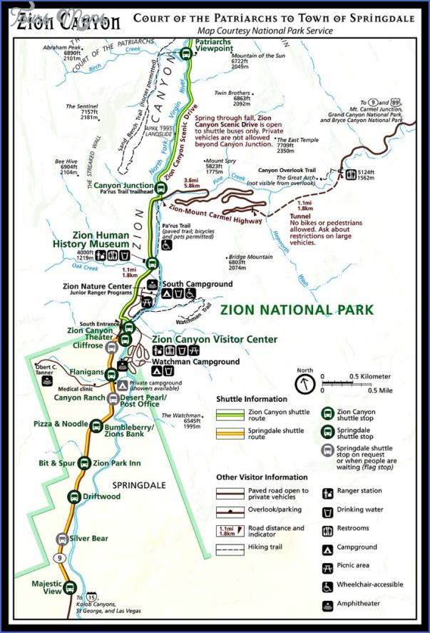 Zion National Park Us Map 4 Jpg