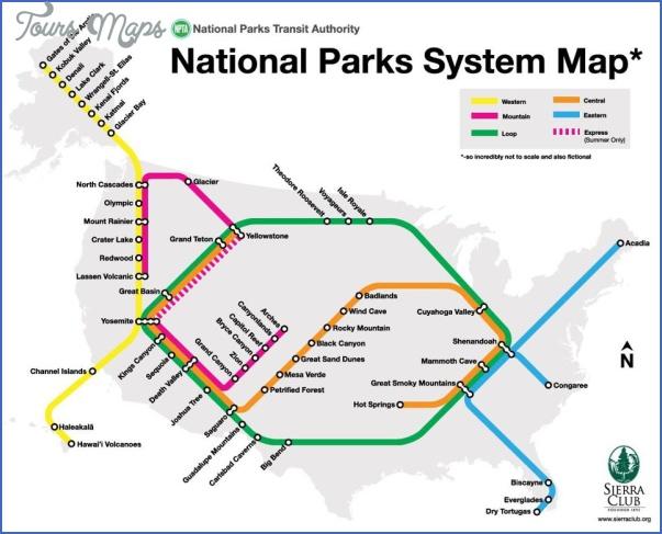 ZION NATIONAL PARK US MAP ToursMapscom