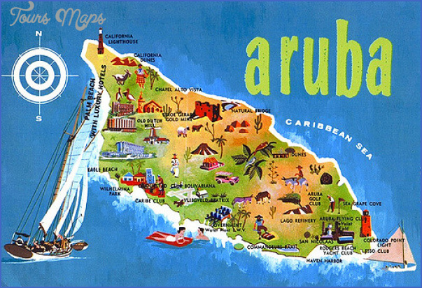 Map Of Aruba Hotels And Restaurants