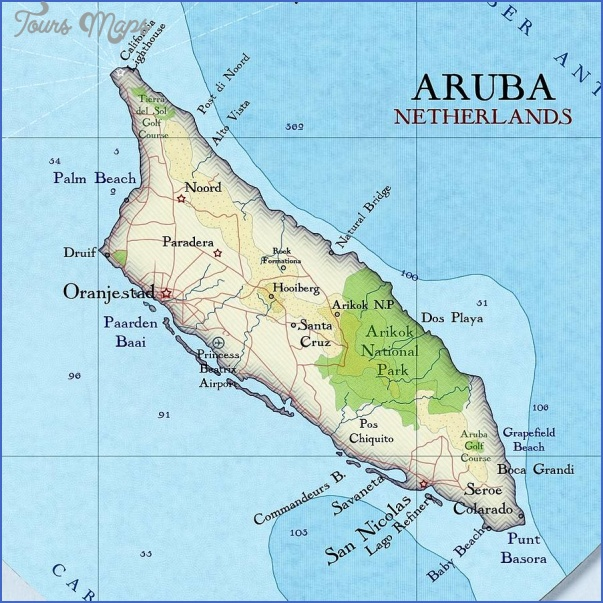 aruba map 8 Aruba Map