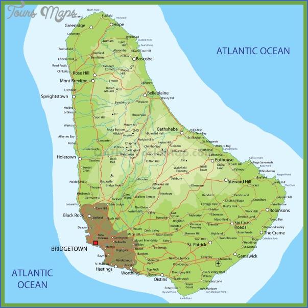 barbados map 11 Barbados Map