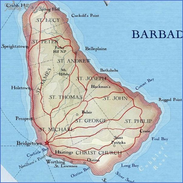 barbados map 2 Barbados Map