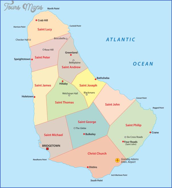 barbados map 3 Barbados Map