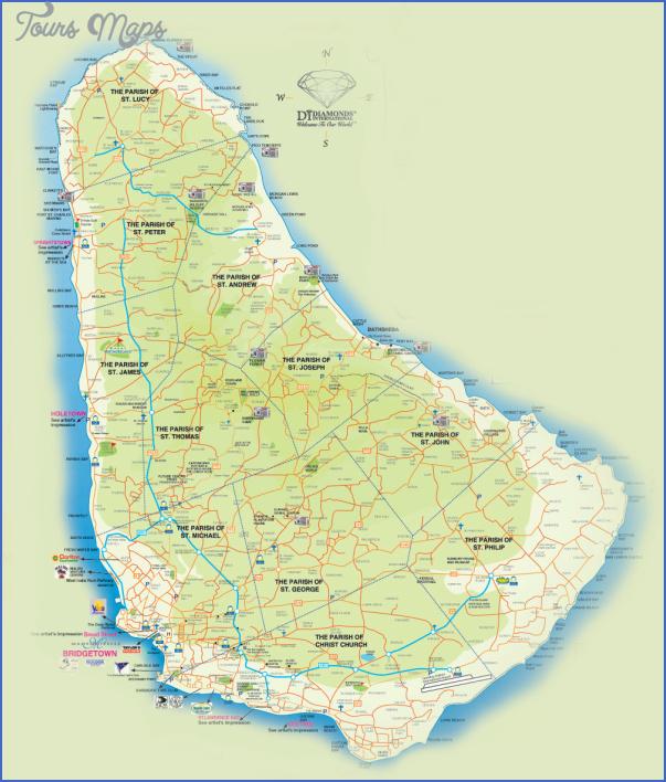 barbados map 5 Barbados Map