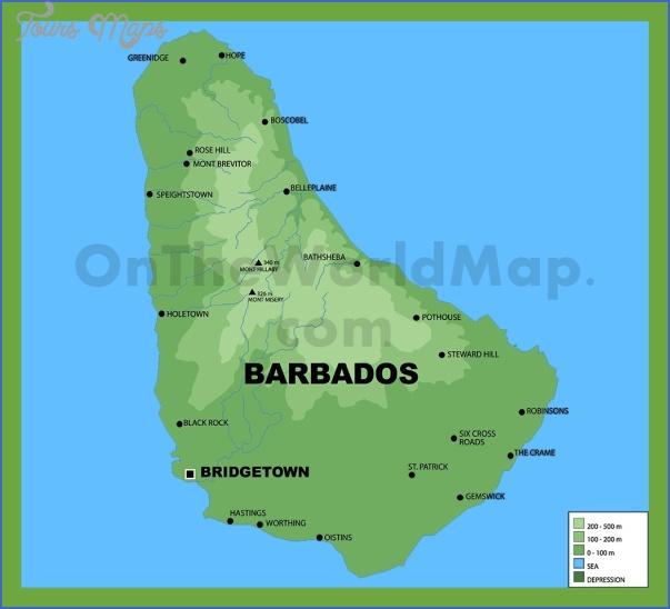 barbados map 9 Barbados Map