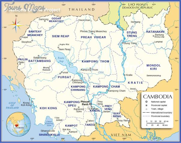 cambodia administrative map Cambodia Map