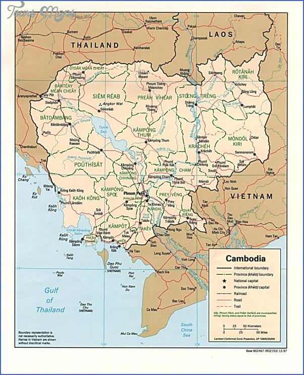 cambodia pol 97 Cambodia Map