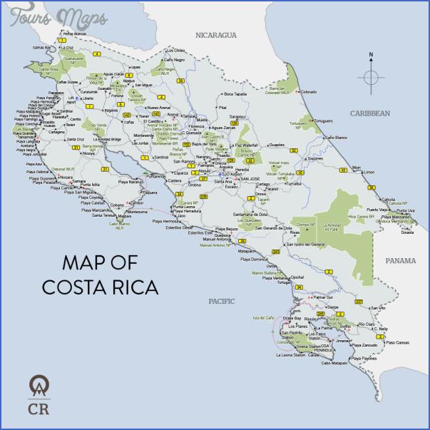costa rica map 14 Costa Rica Map