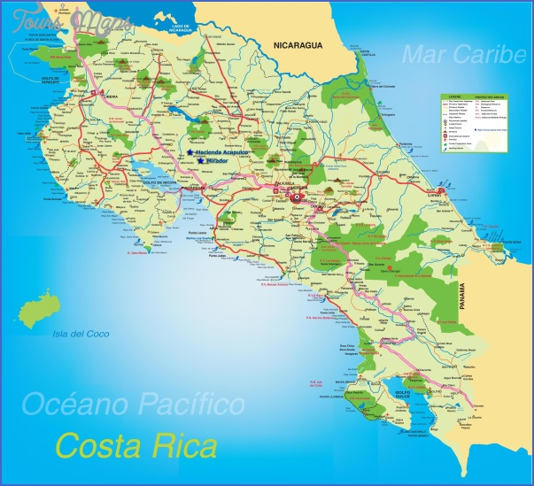 costa rica map 3 Costa Rica Map