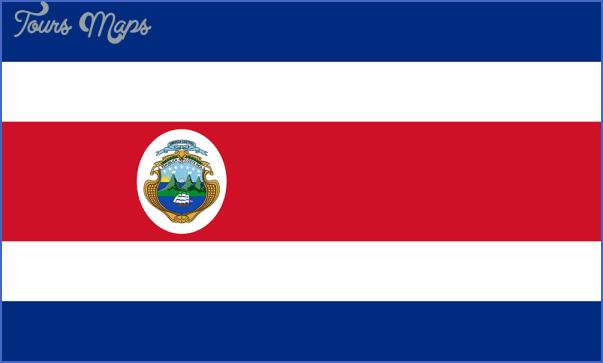costaricastateflagimage Costa Rica Map