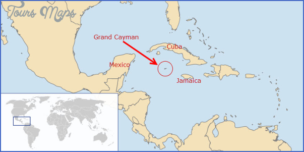 grand cayman map in world Grand Cayman Map