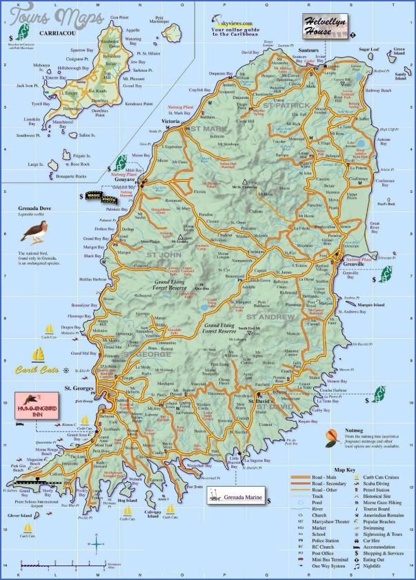 grenada map 3 Grenada Map