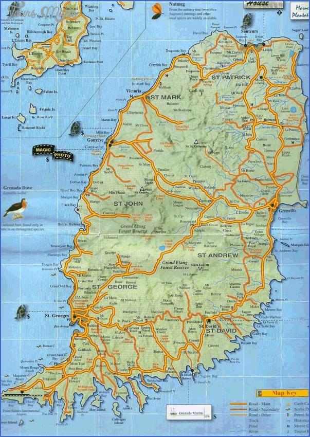 grenada map 6 Grenada Map