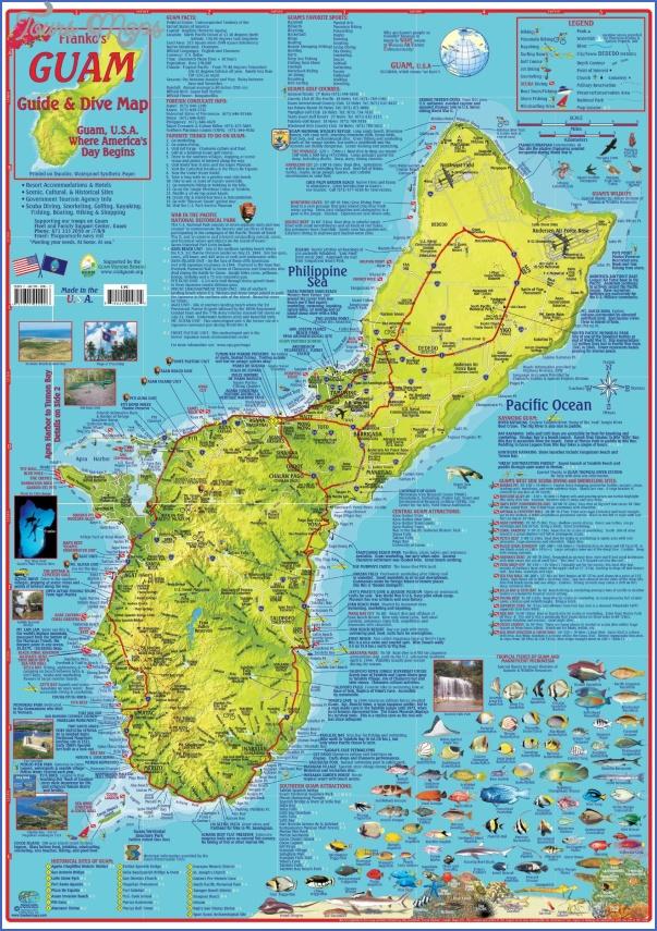 guam map 0 Guam Map