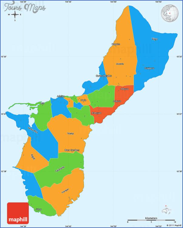 guam map 1 Guam Map