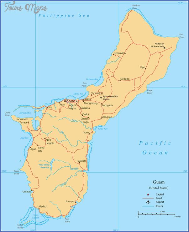 guam map 18 Guam Map