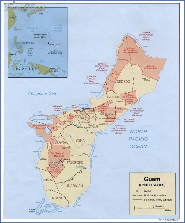 guam map 22 Guam Map
