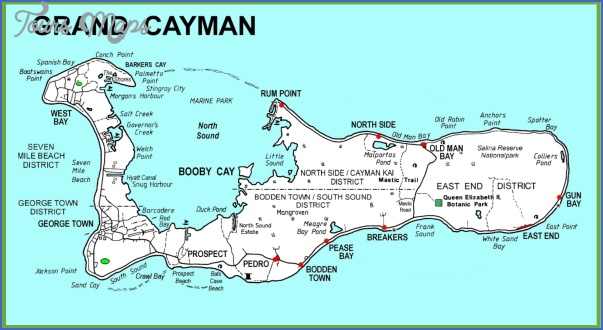 large detailed grand cayman map Grand Cayman Map