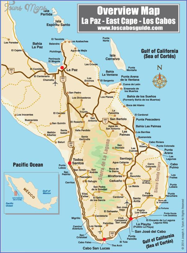 los cabos map 27 Los Cabos Map