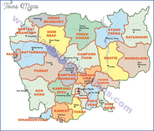 map cambodia provinces 800 Cambodia Map
