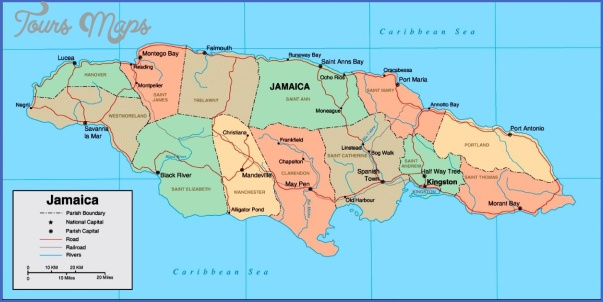map of jamaica Jamaica Map and Flag