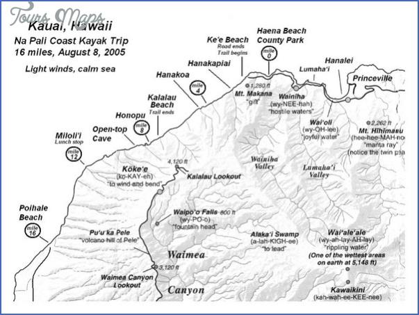 map of napali coast kauai hawaii 0 Map Of Napali Coast Kauai, Hawaii