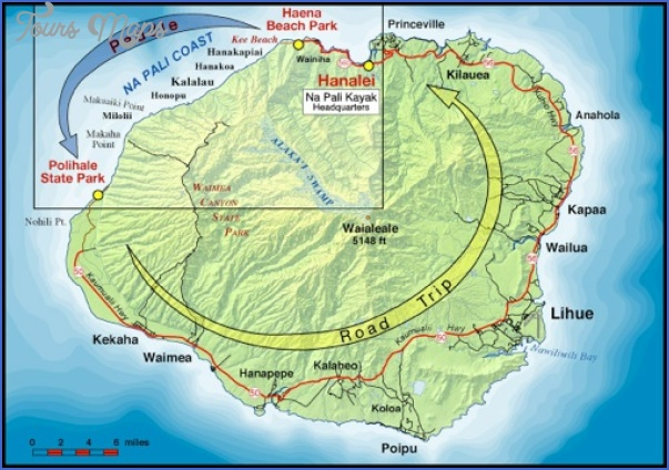 map of napali coast kauai hawaii 2 Map Of Napali Coast Kauai, Hawaii