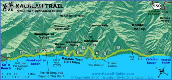 map of napali coast kauai hawaii 6 Map Of Napali Coast Kauai, Hawaii