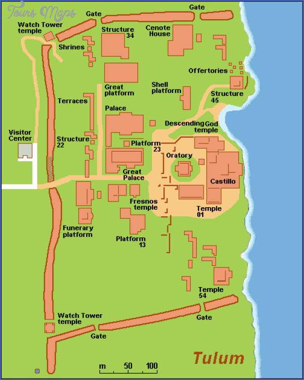 map of tulum and coba 1 Map of Tulum and Coba